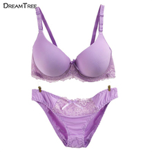 Dream Tree Sexy Lingerie Set Women Love Big Size XXX Bra Seamless Summer 2017 Fashionable Underwear Women Hot Sexi Pic(China)