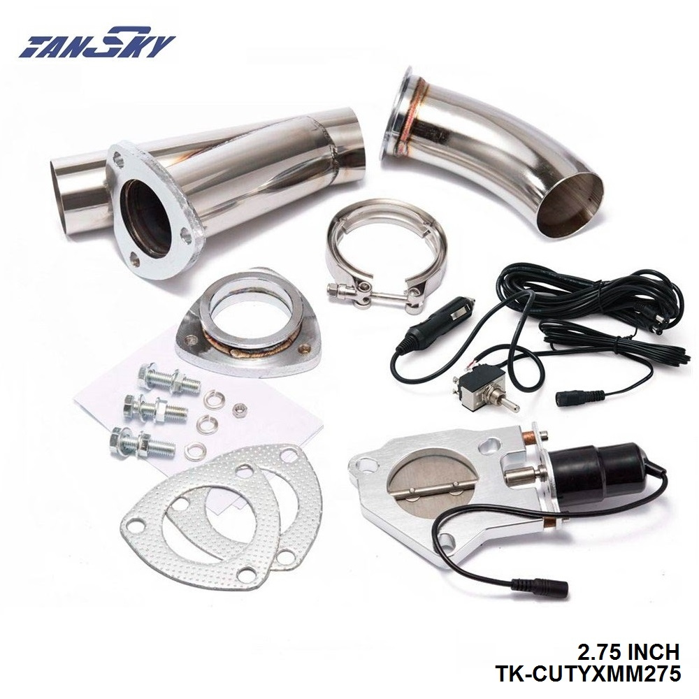 """TANSKY - 2.75"""" Electric Cutout/E-Cut Out Valve System W/O Switch for Exhaust Catback/Downpipe TK-CUTYXMM275"""