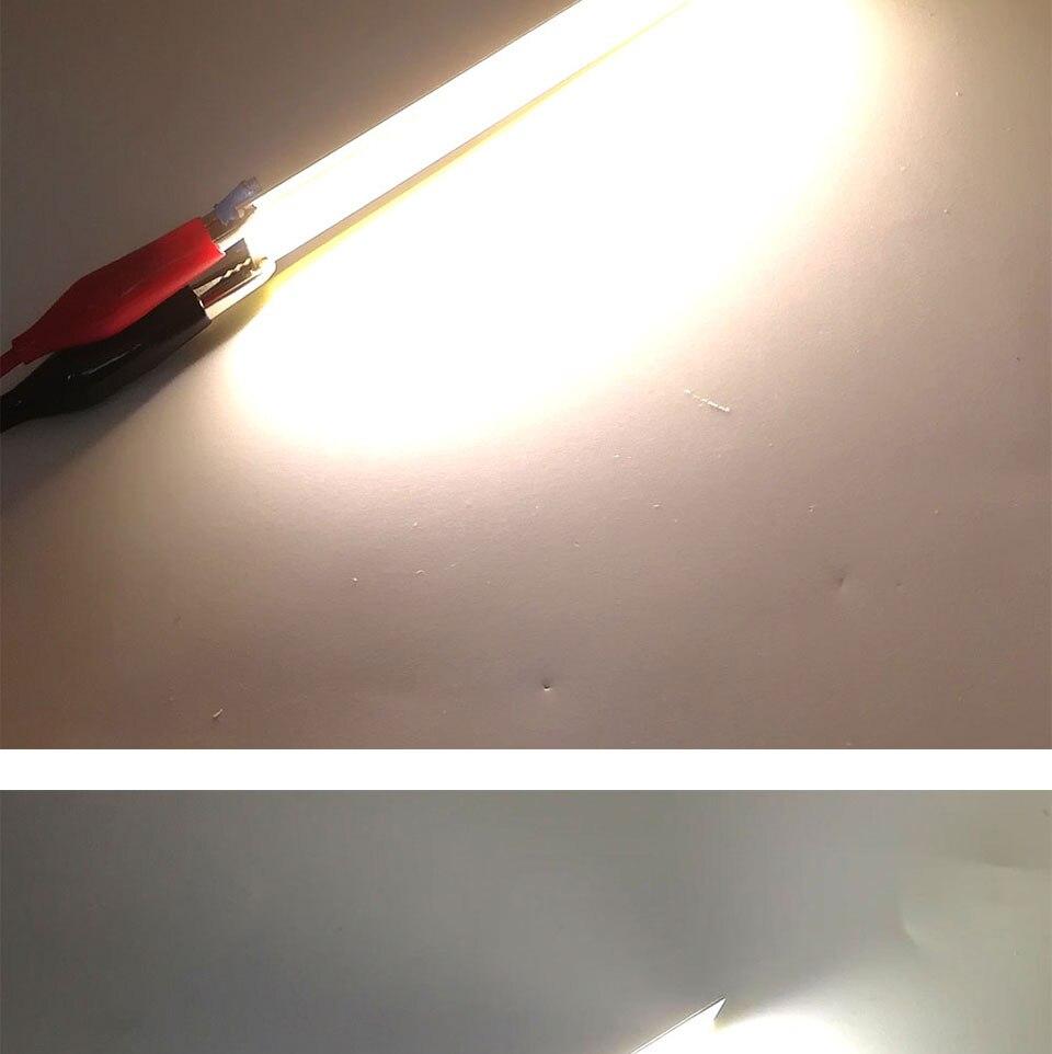 108x15MM 4W Warm Cool White COB LED Light Source Strip Bard Lights DC12V 500LM LED Lamp Bulb DIY Car House Lighting (7)