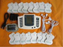 JR309 new Russian or English button Electrical Stimulator Full Body Relax Muscle Therapy Massager,Pulse tens Acupuncture +16pads