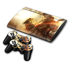 Good design wonderful skin For PS3 Super slim 4000 Console and Two Controller Decals(China)