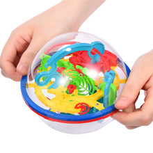 New Puzzle Game Toys 3D Magic Maze Ball 100 Levels Large 3D Rolling Ball Intellectual UFO Maze Ball Childhood Educational Toys(China)