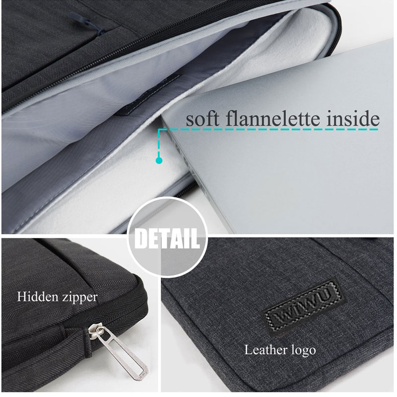 2018 Multi Pockets Bag for MacBook Pro 13 15 Case for Xiaomi Air 13 Waterproof Laptop Case for Lenovo 14 Bag for MacBook Air 13