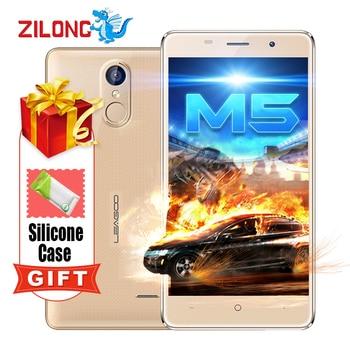 Original Leagoo M5 A Prueba de Golpes Smartphone Android 6.0 5 ''MTK6580 Quad A Core 2 GB + 16 GB Dual Sim GPS huella digital 3G Teléfono Móvil
