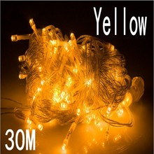 yellow color 30m 240 led String Lights for Xmas  Holiday Wedding Party Decoration Halloween  Restaurant or Bar and Home Garden