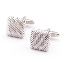 Elegant Fashion Men Cufflinks Glossy Three-Dimensional Emboss Spots Pattern Exquisite Cuff Button Cuff-link(China)
