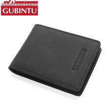 Buy GUBINTU Slim Mens Wallets Men Genuine Leather RFID Strap Minimalist Casual Leather Wallet Purse Portfolio Cartera Perse for $8.59 in AliExpress store