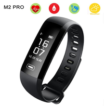 M2 Pro Smart Wristband Activity Fitness Bracelet Watch Heart Rate Monitor Blood Oxygen Band Weather 50 Words PK xiaomi mi band 2