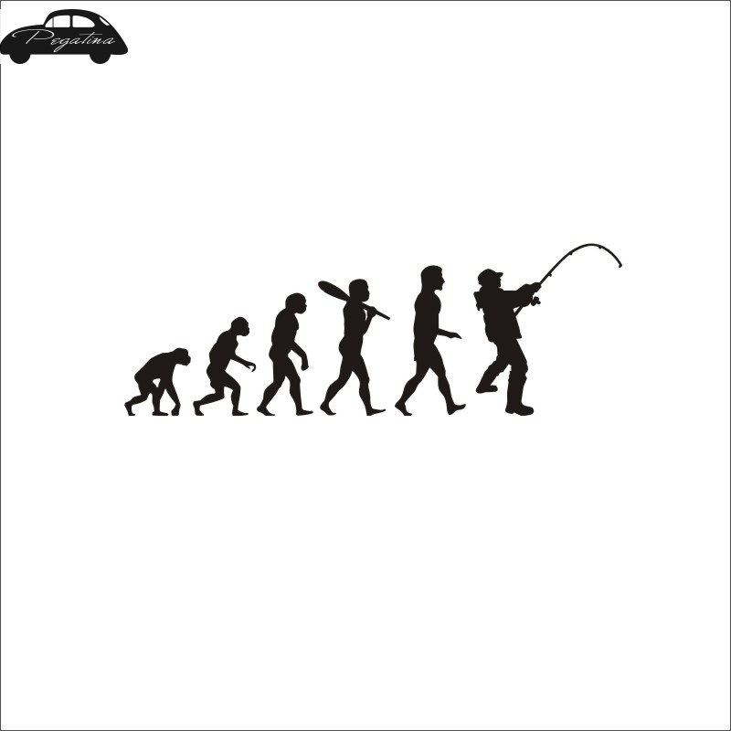 Pegatina Evolution Fish Car Decal Posters Boat Decals Decor Mural Wall Sticker Angling Hooks Shop Vinyl