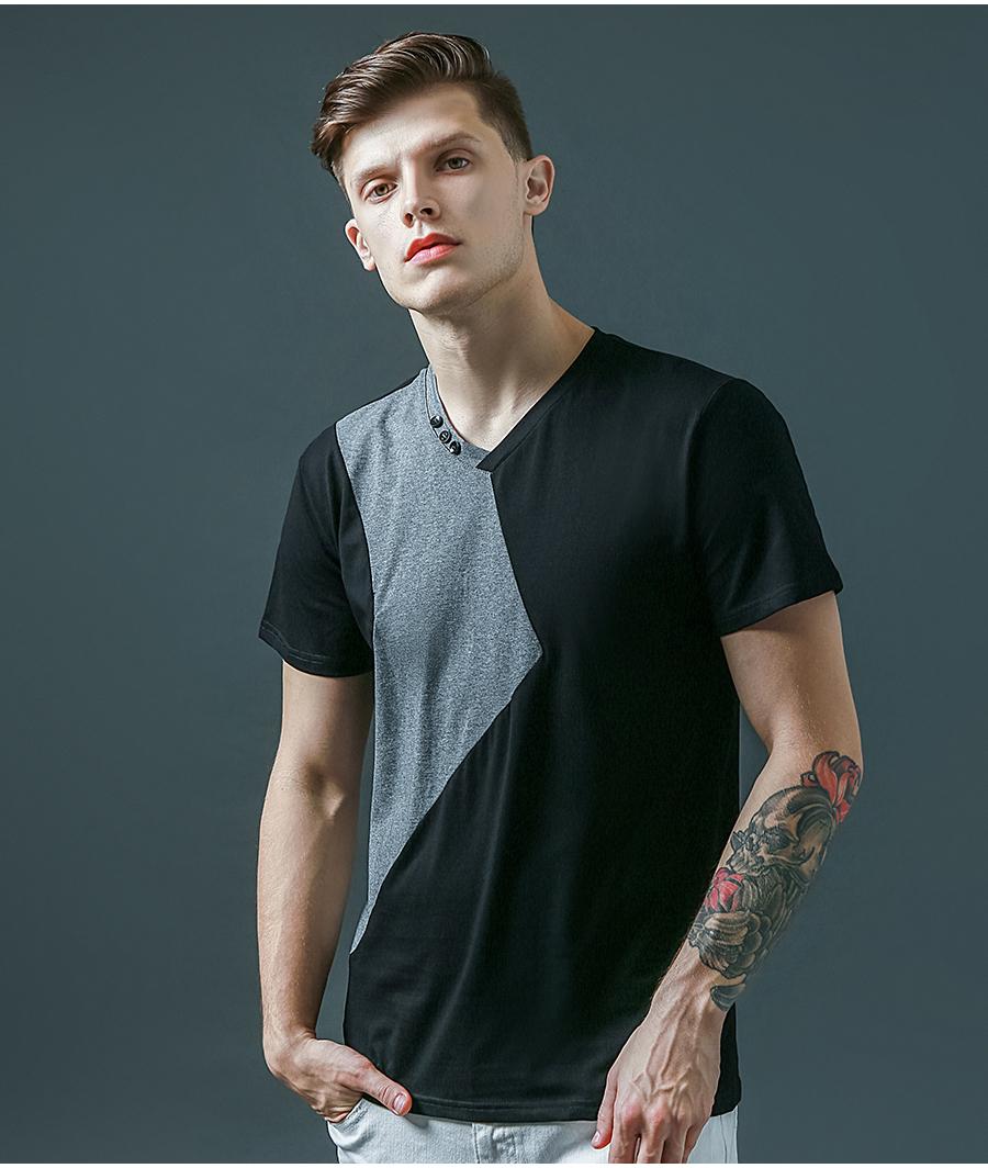6 Designs Mens T Shirt Slim Fit Crew Neck T-shirt Men Short Sleeve Shirt Casual tshirt Tee Tops Mens Short Shirt Size M-5XL 11