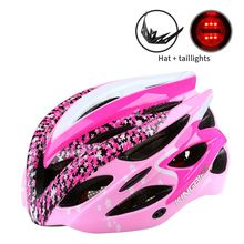 2017 Upgrade  Helmet Bike  Ultralight Cycling Helmet  Breathable Hat Insect Net Girl Pink Sports Outdoor 57-62 CM