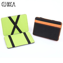 CUIKCA South Korea Styles Magic Wallet Men Women Wallet Magic Money Clips Creative Wallet Card Case Men Purse Fashion Wallet 999