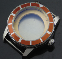 1pcs Corgeut 46mm sterile stainless steel watch case fit ETA 2836 Mingzhu 2813/3804 movement P432