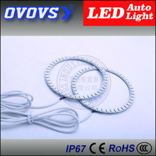 OVOVS cheap price high quality 12v 80mmx100mm led RGB angel eyes for cars(China)