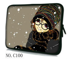"Girl with glasses 13"" Nice Laptop Bag Case Cover For 13.3"" Apple Mac Macbook Pro Air For HP Dell Sony(China)"