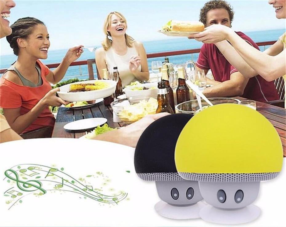 Wireless Mini Bluetooth Speaker Portable Mushroom Waterproof Stereo Bluetooth Speaker for Mobile Phone iPhone Xiaomi Computer PC  (3)