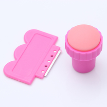 1 set Simple Small Nail Art Stamper with Scraper Nail Stamping Tools (Random Color) #992(China)