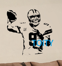 Tony Romo Wall Sticker American football quarterback Vinyl Decal Sport Poster Number 9 Graphic Mural S M L(China)