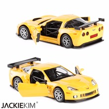 New RMZ city 1/36 Scale USA Chevrolet Corvette Diecast Metal Car Model Toy With Pull Back For Kids Birthday Gift Collection