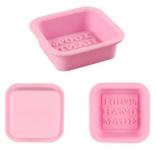 1pc Newly Design Hot Selling Delicate Cute Craft Art Square Silicone Oven Handmade Soap Molds DIY Soap Mold