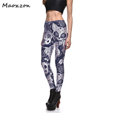 Buy Maoxzon Womens Cats Digital Print Workout Bodycon Slim Leggings Pants Female Casual Fitness Elastic Skinny Pencil Trousers for $9.51 in AliExpress store