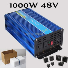 1000W Off Grid Inverter 48V DC to AC 100/110/120VAC or 220/230/240V Pure Sine Wave Output Solar Wind Inverter 1000W 48V