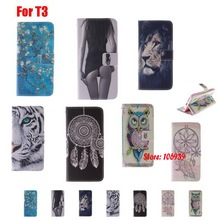 Deluxe Pretty Beautiful Abstract Flip Wallet Painted PU Leather Case Cubierta Cover For Sony Xperia T3 Dream Wind Tree Girl