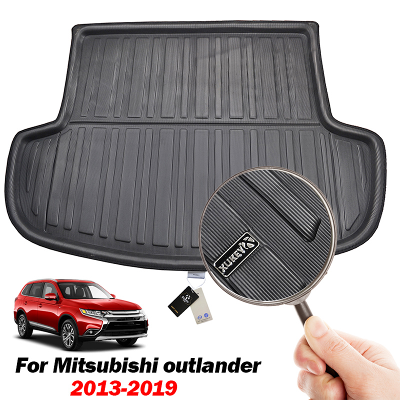Fit For Mitsubishi Outlander 2013-2020 Rear Trunk Boot Liner Cargo Mat Tray Floor Carpet Mud Kick Protector 2016 2017 2018 2019