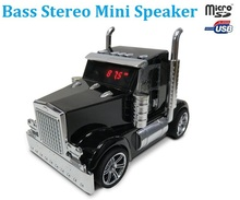 Mini Truck Car Portable Stereo Music Speaker USB TF FM For MP3 iPhone Tablet PC Sound Box speakers mp3 player ribbon tweeter