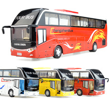 Original gift box packaging,High simulation alloy bus,alloy pull back cars, toy bus models,free shipping