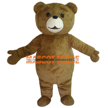 New Ted Costume Teddy Bear Mascot Costume Free Shpping(China)