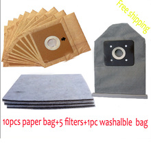 10pcs paper dust bag 1pcs Washalbe dust bag 5pcs filter suitable for  model philips LG Electrolux  dust bag free shipping