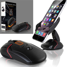 Innovative Universal Windshield Dashboard Mouse Car Phone Stand Holder for iphone 6 6s plus For LG G5 Samsung Galaxy S6 S7 Edge(China)