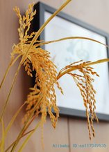6 PCS Beautiful Artificial yellow paddy Rice plastic plant Home Decoration stage property Gift F318