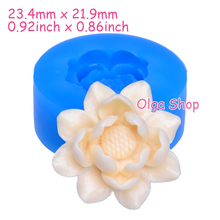 HYL055 23.4mm Flower Silicone Push Mold - for Fondant, Cake Topper, Gum Paste, Jewelry Making, Candy, Icing, Resin, Food Safe(China)