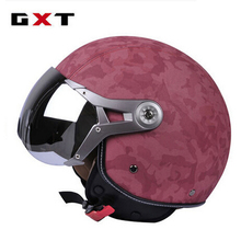 Genuine GXT Retro Moto Casco Men Vintage Motorcycle Helmets Bike Bicycle Helmets Scooter Women Capacete Casque for Harley