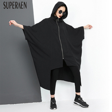 Buy SuperAen 2018 Spring New Loose Trench Coat Women Cotton Fashion Casual Irregular Hooded Coat Printed Zipper Windbreaker for $39.90 in AliExpress store