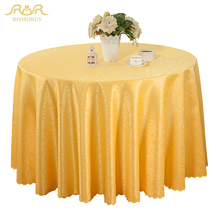 ROMORUS New Round Table Cloths Solid Color Wedding Tablecloth Gold/Red/Purple/White Party Table Cover Square Dining Table Linen(China)