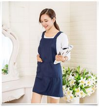 hot quality cotton Kitchen waterproof antifouling apron for women Chefs Cooking Apron Restaurant work apron Tablier Pinafore