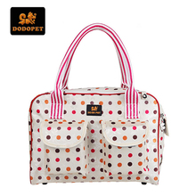 DODOPET Fashion Portable Pet Carrier Foldable Waterproof Small Cat/Dog Bag Colorful Dots Travel Tote Pet Carrier Bag Luggage(China)