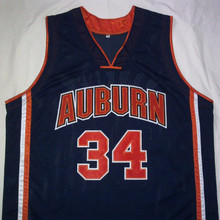 CHARLES BARKLEY Auburn University Navy Black Basketball Jersey Embroidery Stitched Customize any size and name(China)