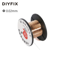 DIYFIX 0.02mm PCB Link Wire Copper Soldering Wire Maintenance Jump Line for Mobile Phone Computer PCB Welding Repair Tools
