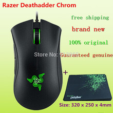 NEW Origina Razer Deathadder Chroma Gaming Mouse,10,000dpi +razer Goliathus Mouse pad /Size: 320 x 250 x 4mm (gift)+ mouse bag
