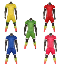 5 coulrs Men soccer training kits Multicolor optional soccer training jerseys football team unifroms Quality camistas
