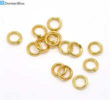 "Doreen Box Lovely Gold color Open Jump Rings 5mm(1/4""), sold per lot of 1000 (B16977)"