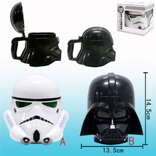 CTDSGW000291 Star Wars Mug 3D Black Knight White Knight Iron Man Three-dimensional Plastic Cup of Coffee Cup