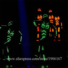 Colorful Led Luminous Robot Dance Suit Led Light Up Stage Performance Costume Flashing Christmas Hallowenn Party Wear(China)