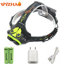 Head lamp 8800 lumens LED NEW L2 headlamp floodlight Head light headlight torch+18650 battery+USB cable +USB Charger