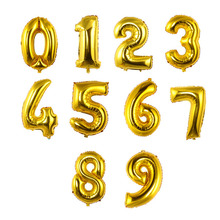 32/40 inches Gold Silver Number Foil Balloons Digit air Ballons Birthday Party Wedding Decor Air Baloons Event Party Supplies(China)