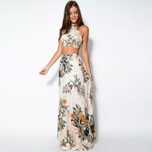 Buy 2017 Women's Sets Sexy Vestidos Large Size Dress Summer Print Top Long Skirts Set Party Maxi Formal Club Clothes Sets for $6.89 in AliExpress store